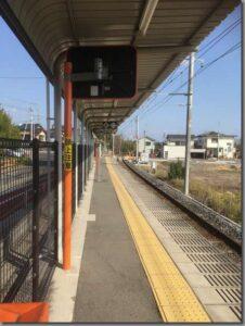 草江駅ホーム